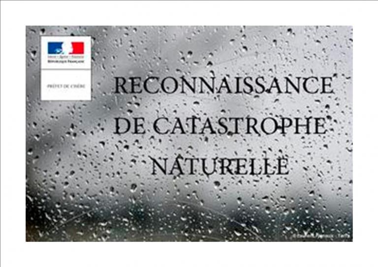 RECONNAISSANCE CATASTROPHE NATURELLE Inondations
