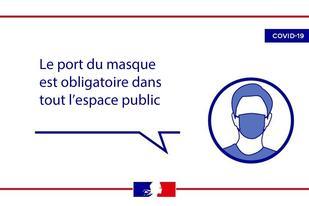 Port du masque obligatoire dans les lieux publics (intérieurs et extérieurs)