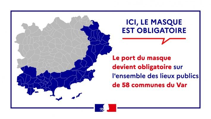 Port du masque obligatoire dans certains lieux ouverts jusqu'au lundi 1er novembre inclus