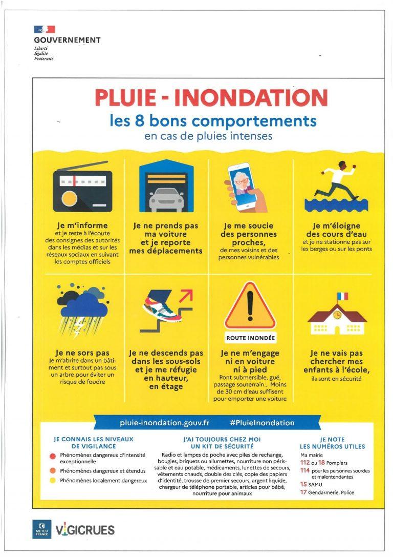CAMPAGNE SENSIBILISATION PLUIE – INONDATION